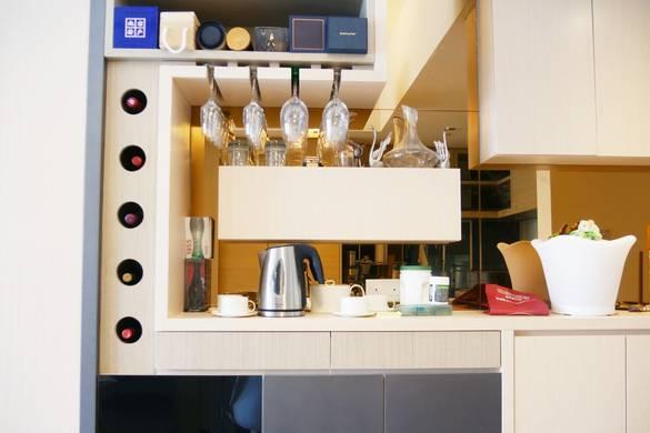 將軍澳天晉飯廳餐邊櫃裝修奢華風室內設計