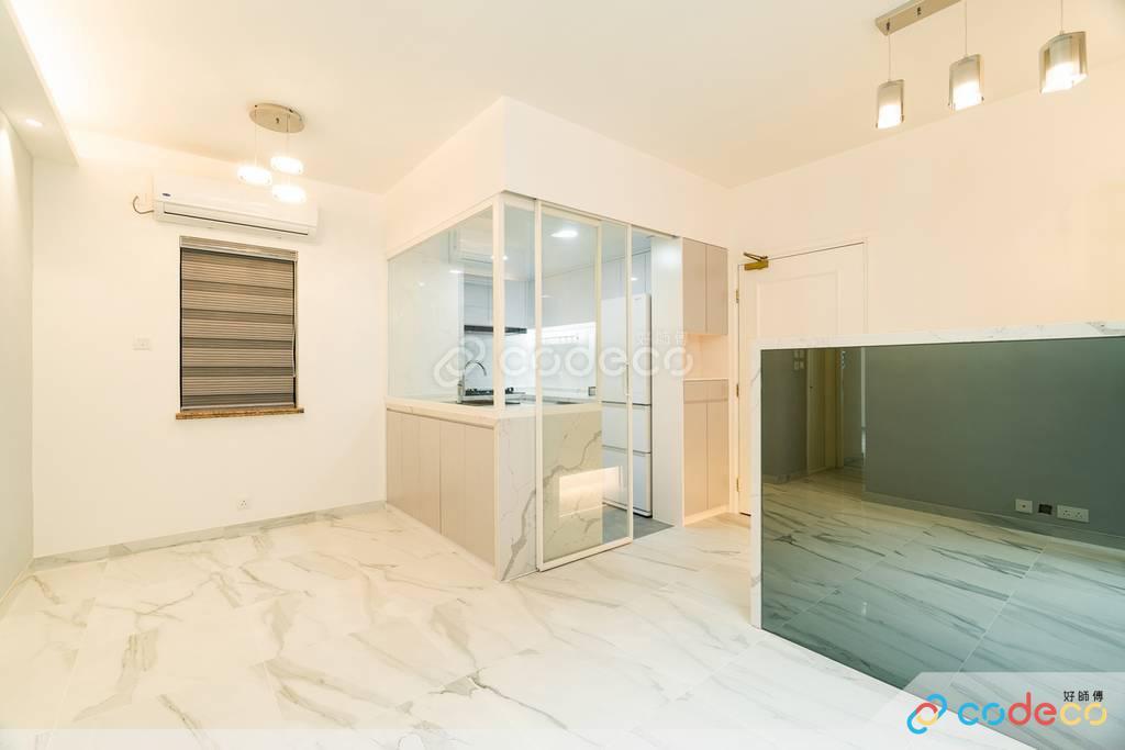 將軍澳東港城半開放式廚房裝修