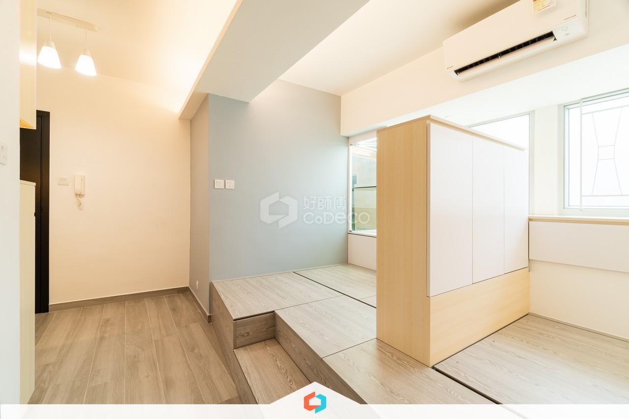 九龍灣得寶花園客廳裝修