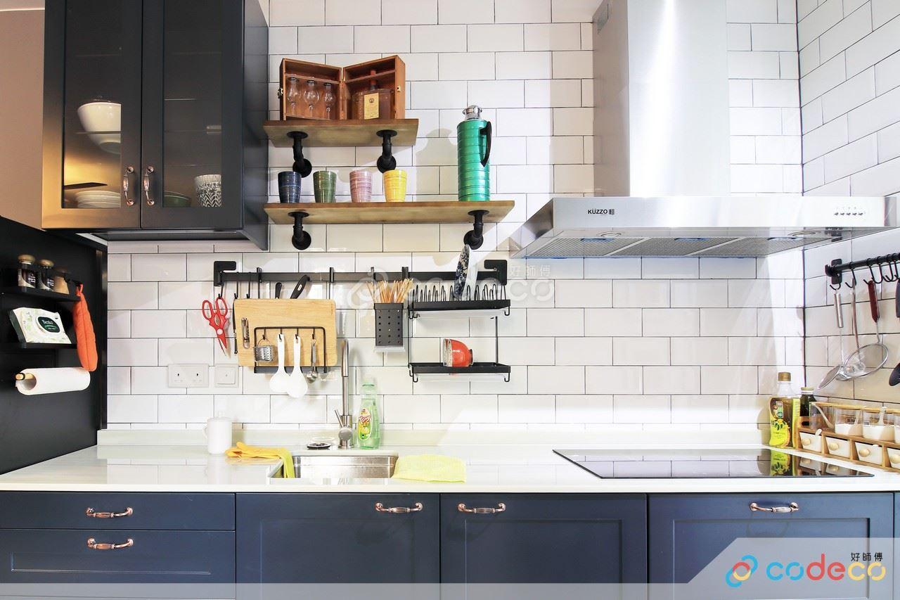 羅屋村廚房白色麵包磚案例