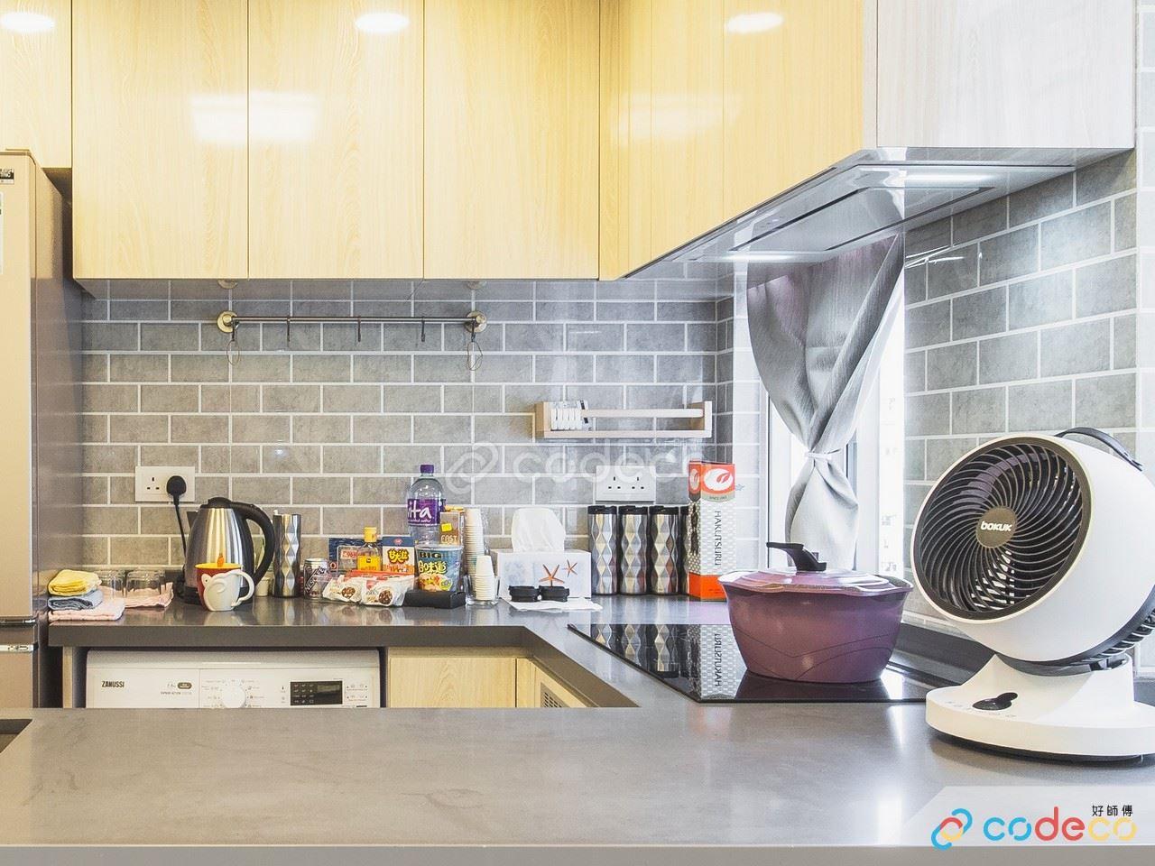 私人住宅廚房灰色麵包磚案例