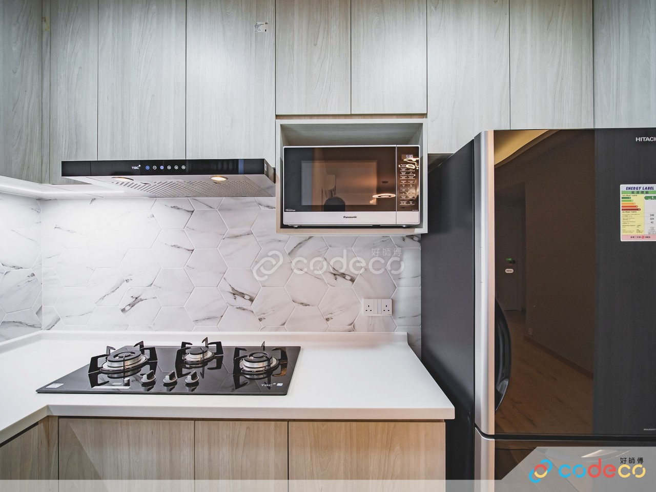 帝堡城廚房六角形磚案例