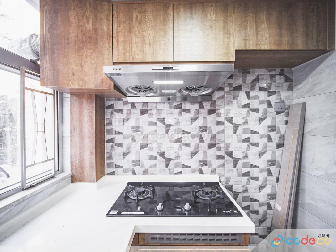 利東邨廚房幾何磚案例