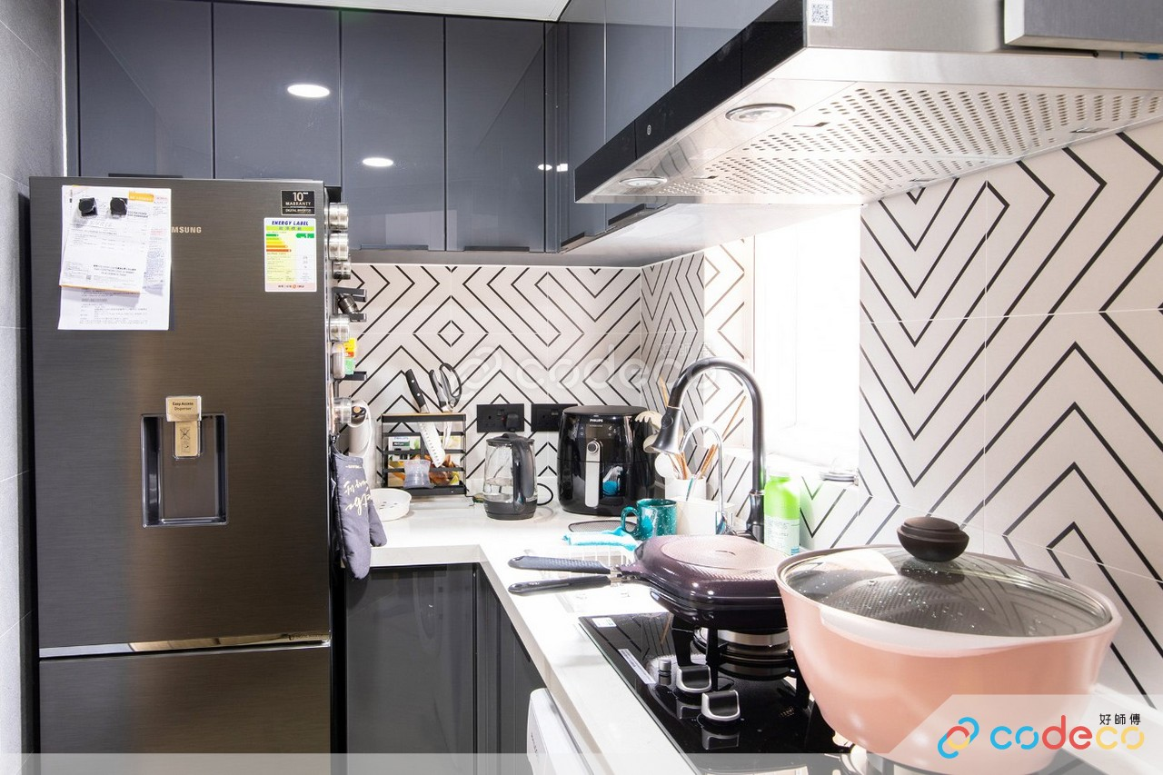 雅濤閣廚房幾何磚案例