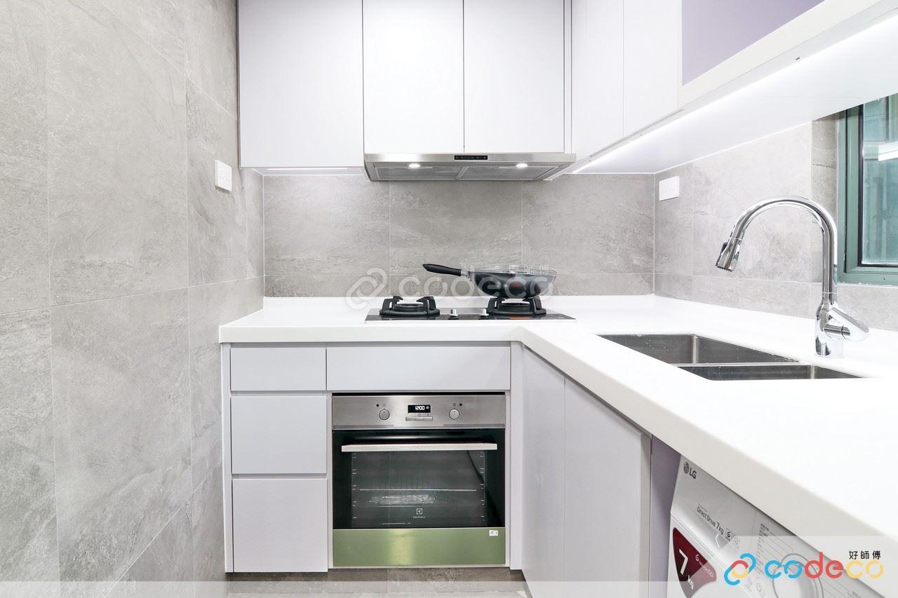 浪翠園廚房仿水泥磚案例