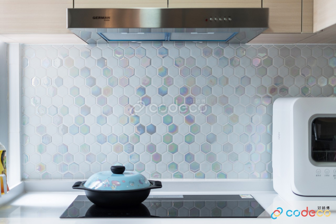凱樂苑廚房壓花磚案例