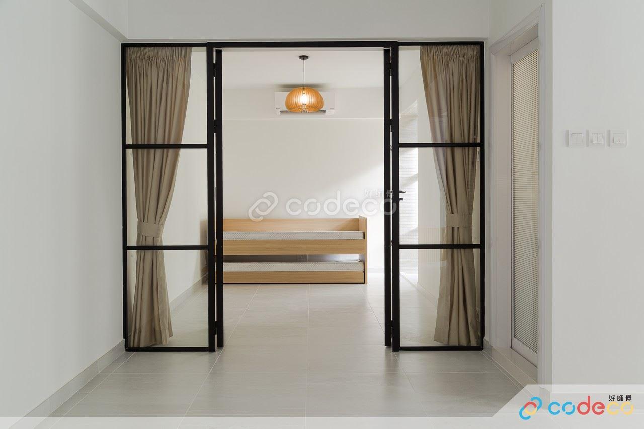 方格玻璃趟門款式設計案例參考示範