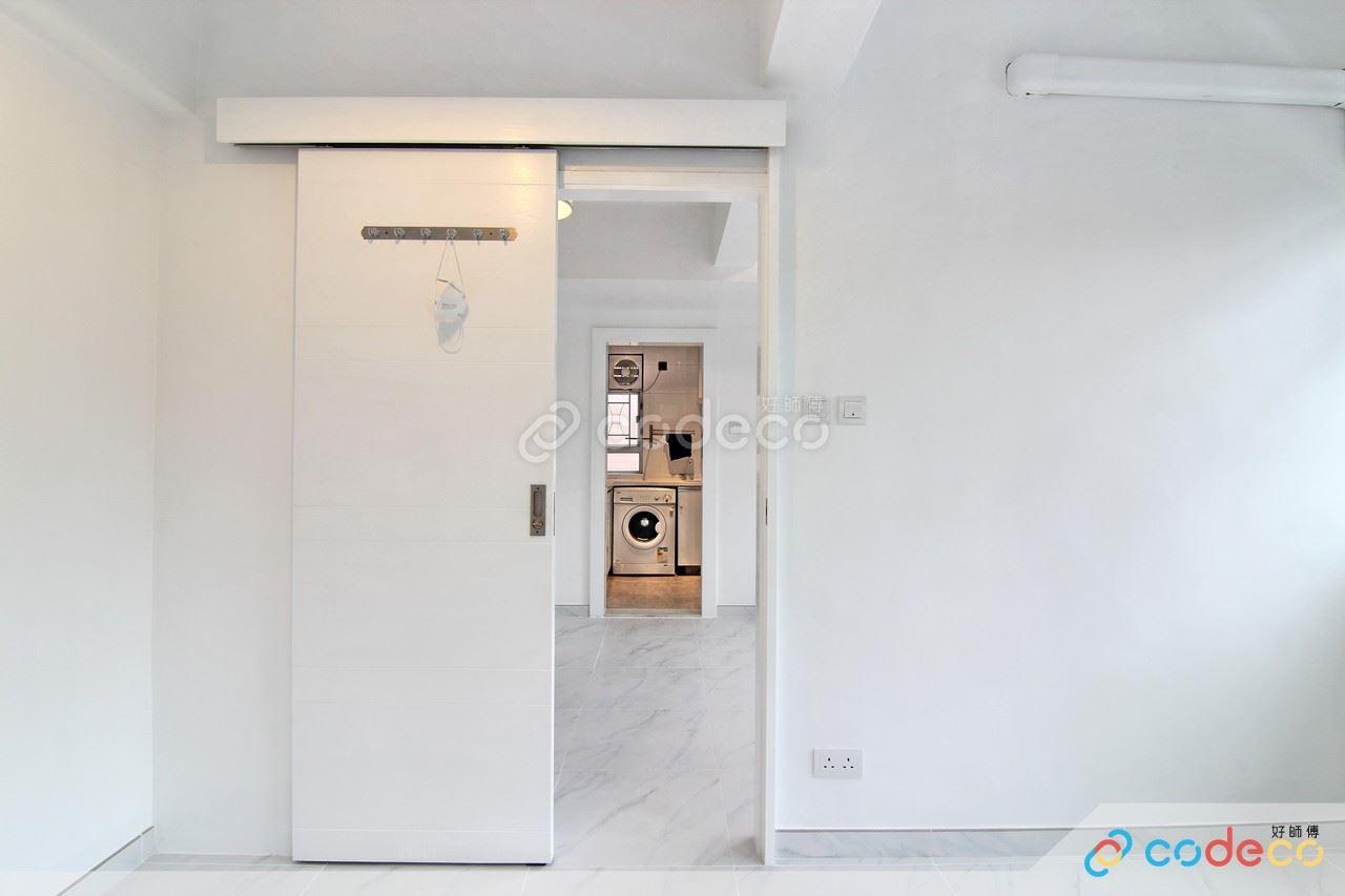 白色趟門款式設計案例參考示範