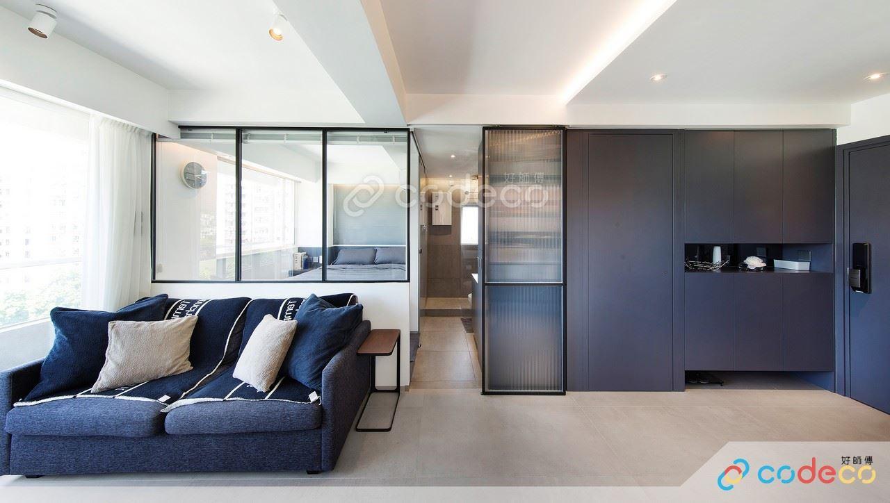 房間玻璃半高牆設計案例