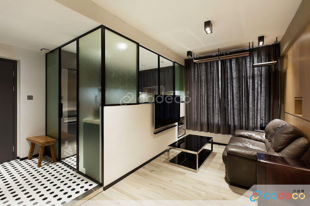 廚房玻璃半高牆設計案例