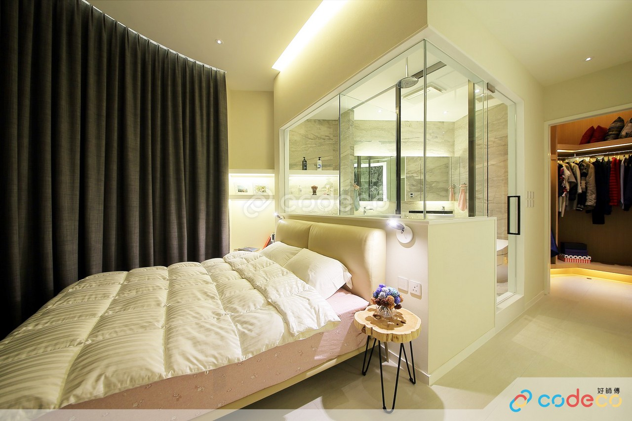 浴室玻璃半高牆設計案例