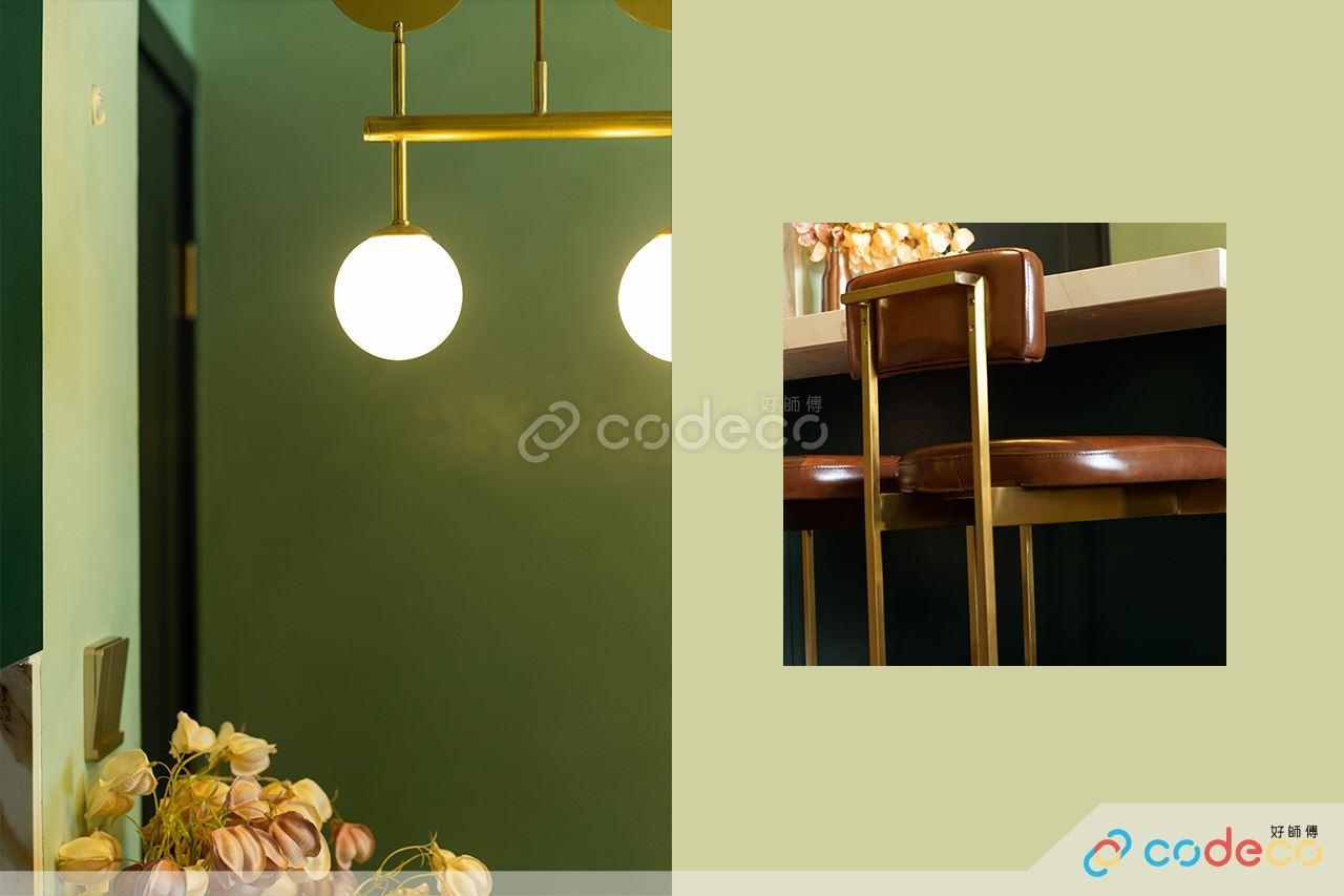 飯廳吧檯及吊燈