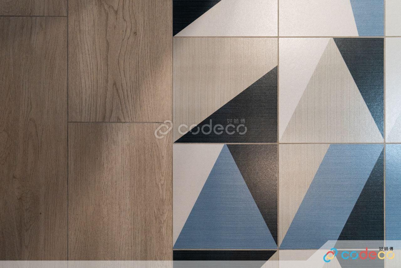 木紋磚幾何圖形磁磚拼貼設計
