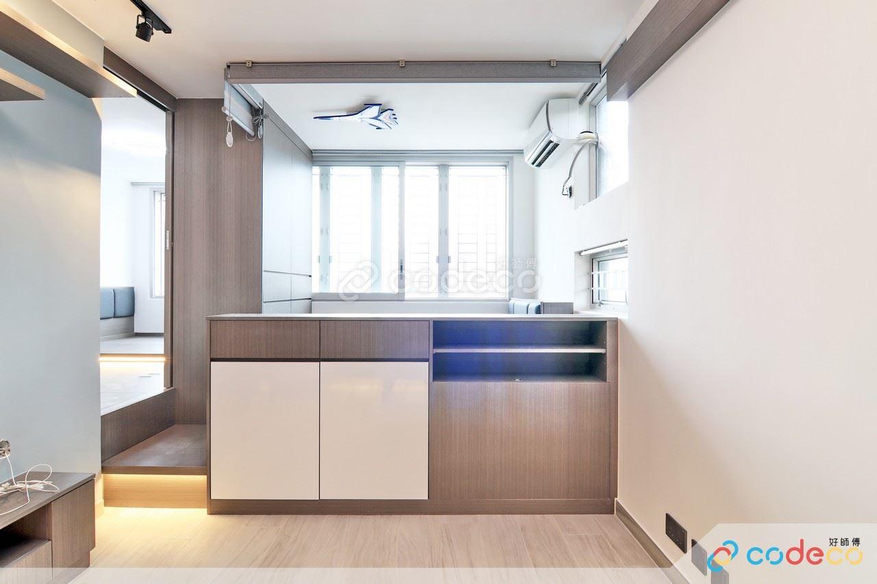 矮櫃地台 廳間房設計案例
