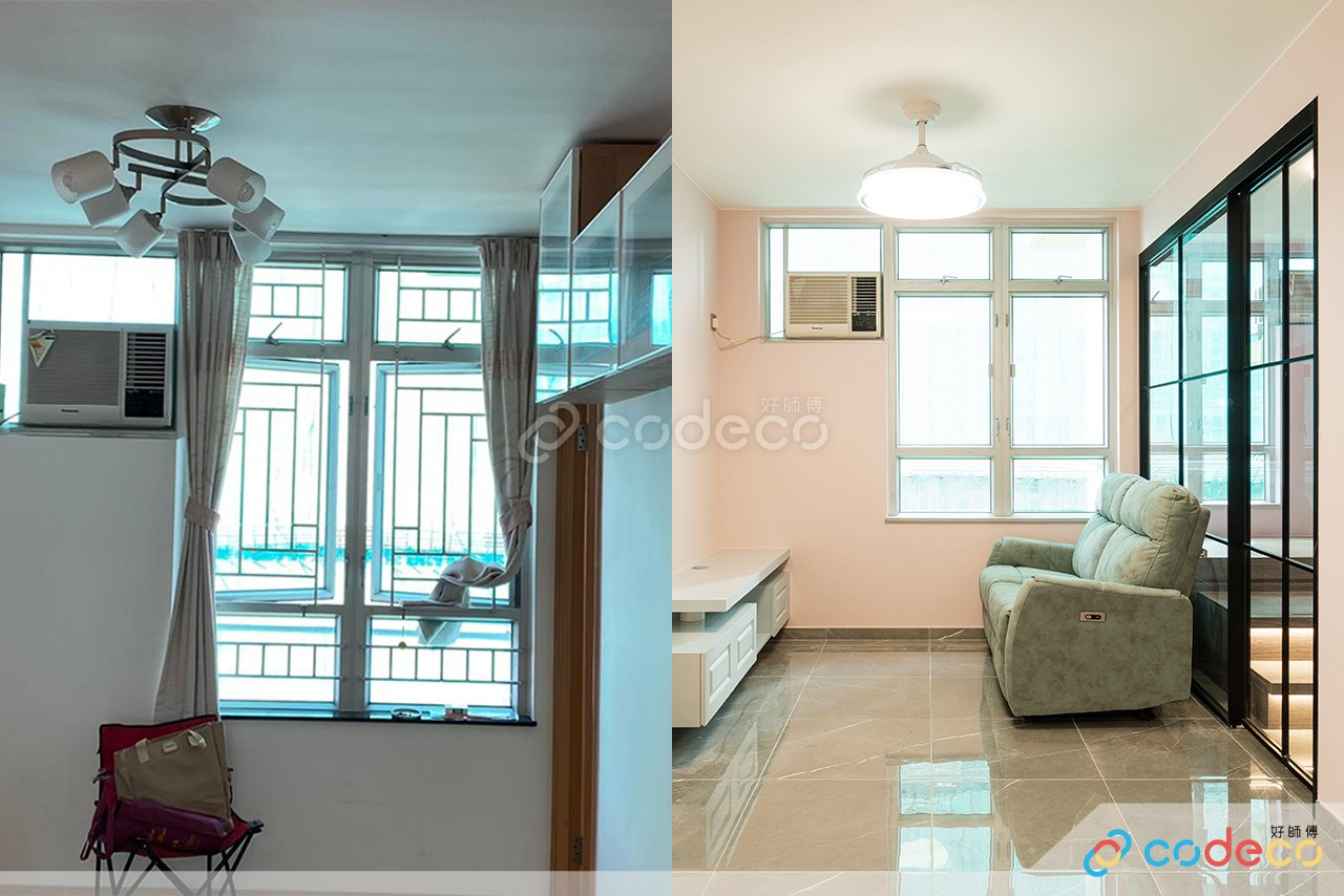 居屋設計參考 拆牆做玻璃間隔
