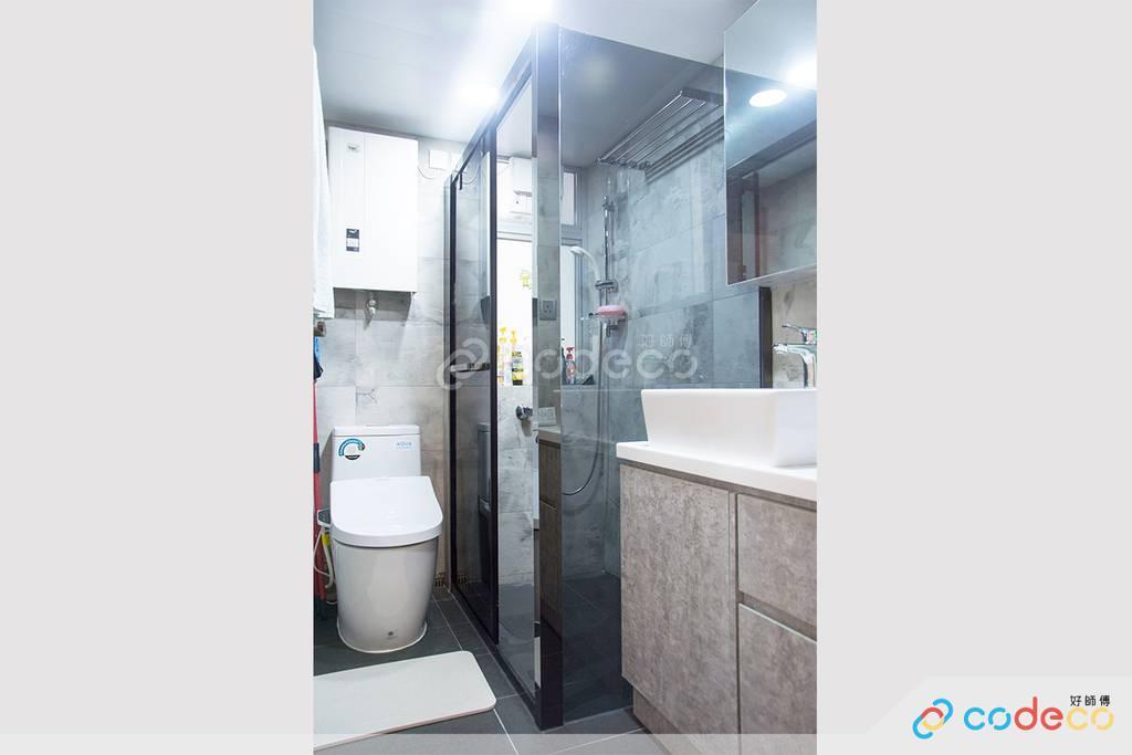藍田麗港城廁所裝修北歐風室內設計