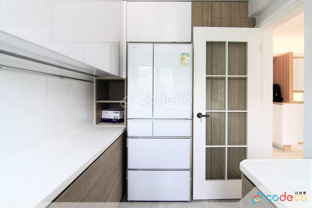 大埔區帝欣苑廚房裝修北歐風室內設計