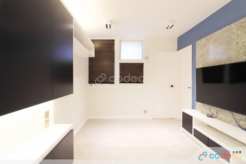 屯門龍門居大廳裝修現代簡約風室內設計