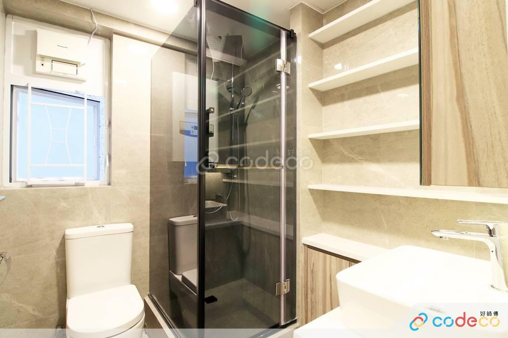 屯門龍門居廁所裝修現代簡約風室內設計