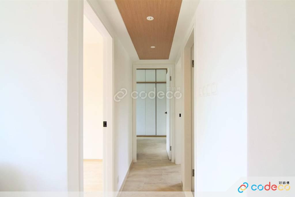 大埔帝欣苑走廊裝修北歐風室內設計