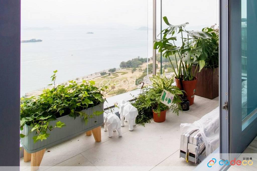數碼港貝沙灣露台裝修北歐風室內設計