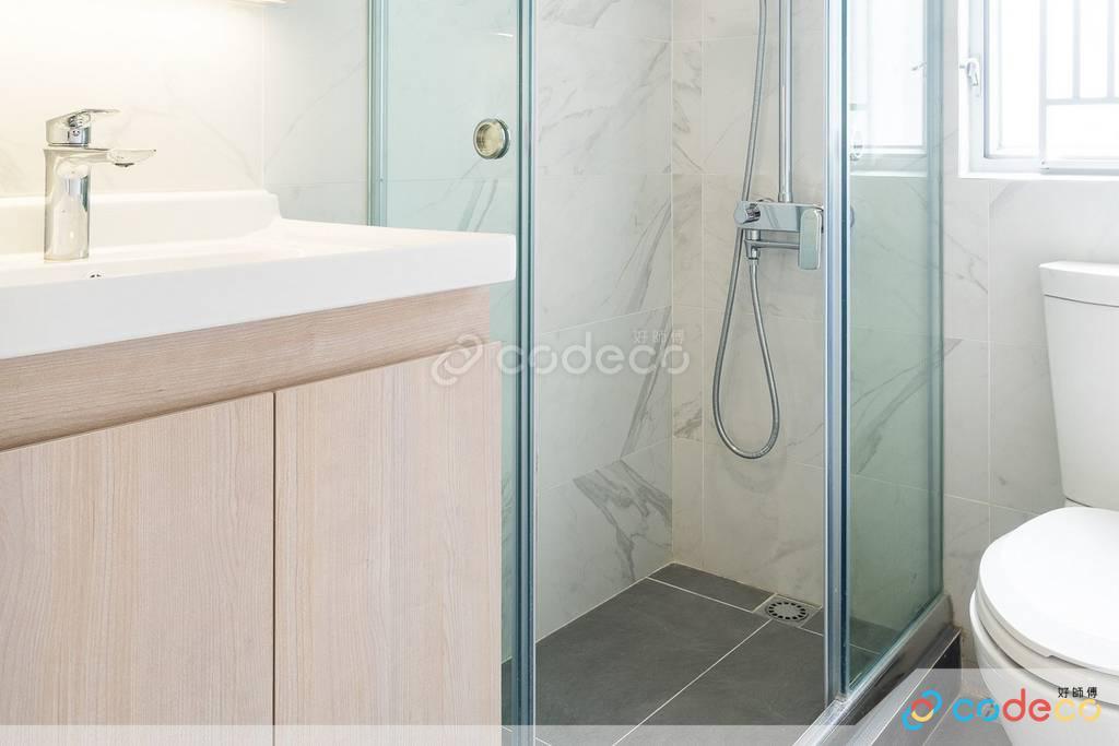 觀塘海景大廈廁所裝修無印風室內設計