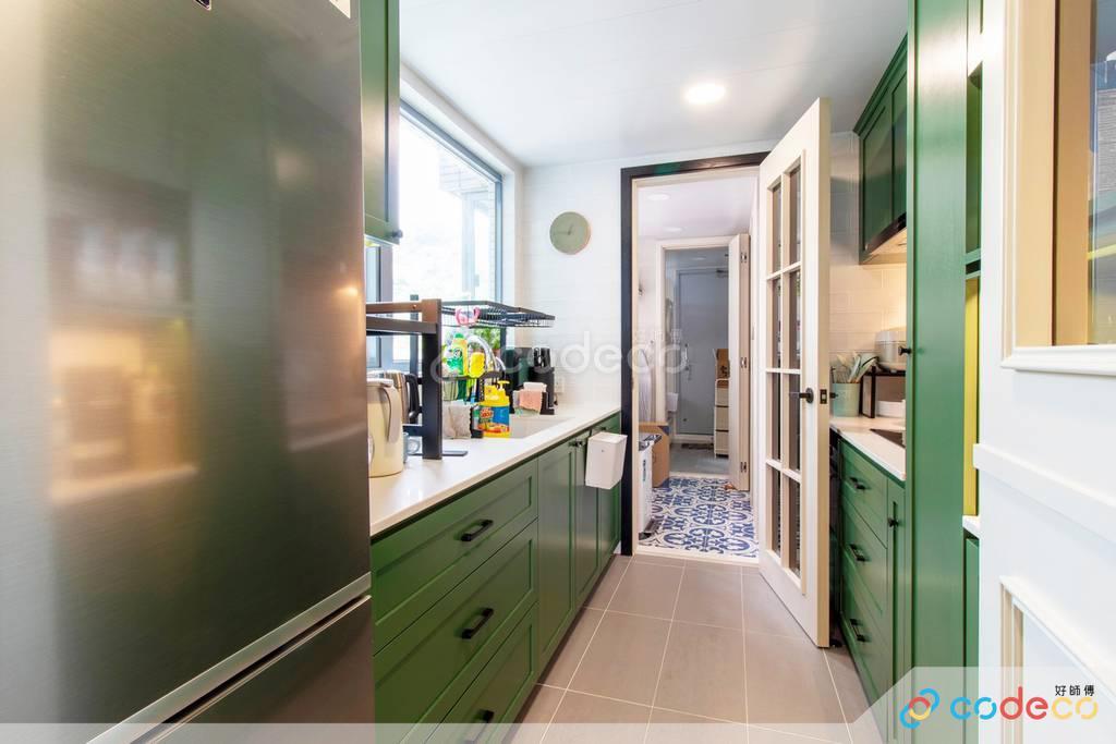 數碼港貝沙灣廚房裝修北歐風室內設計
