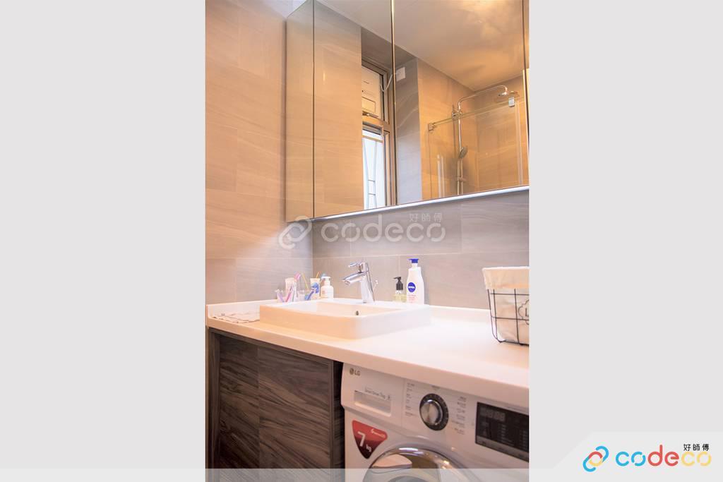 深水埗One New York廁所裝修北歐風室內設計