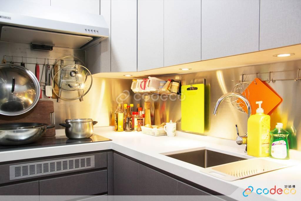 藍田麗港城廚房裝修北歐風室內設計