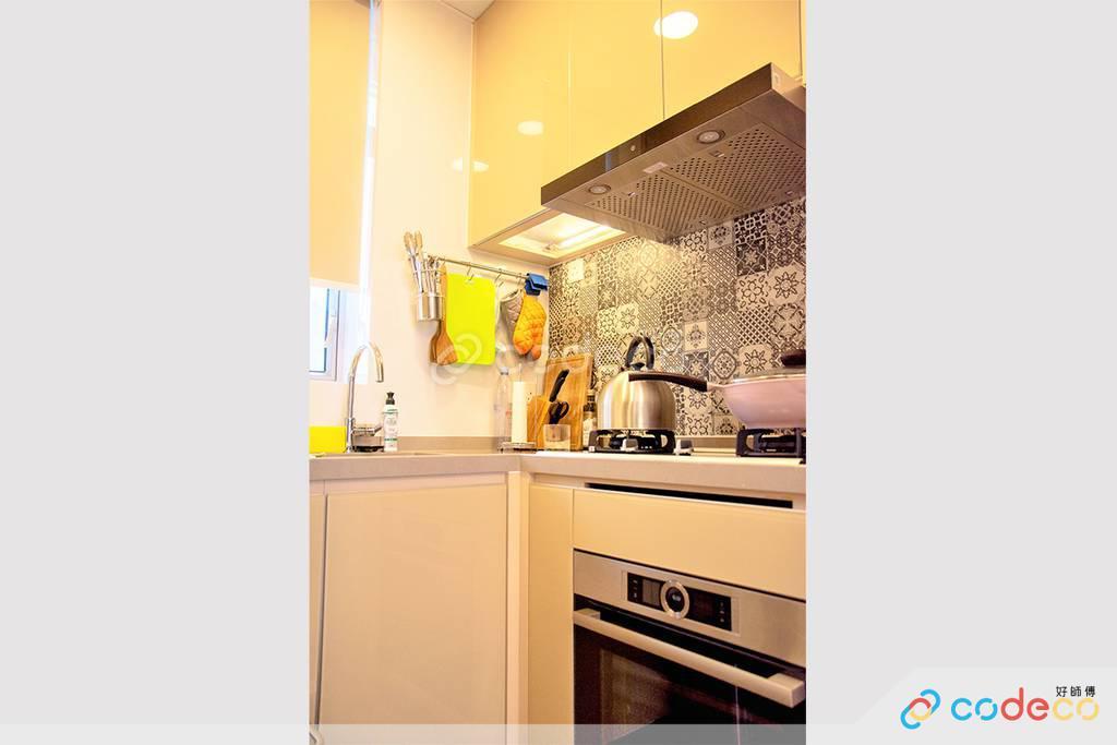 深水埗One New York廚房裝修北歐風室內設計