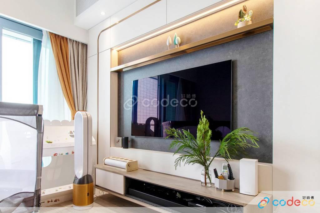 數碼港貝沙灣大廳裝修北歐風室內設計