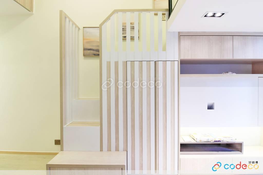 下葵涌豐寓大廳樓梯裝修無印風室內設計