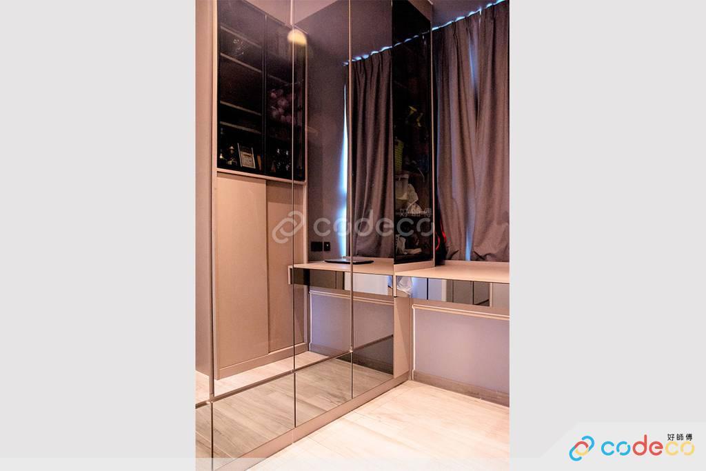 深水埗One New York客房衣櫃裝修北歐風室內設計