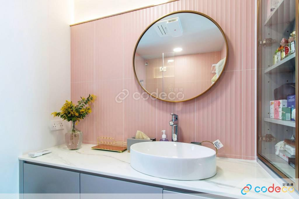 數碼港貝沙灣廁所裝修北歐風室內設計