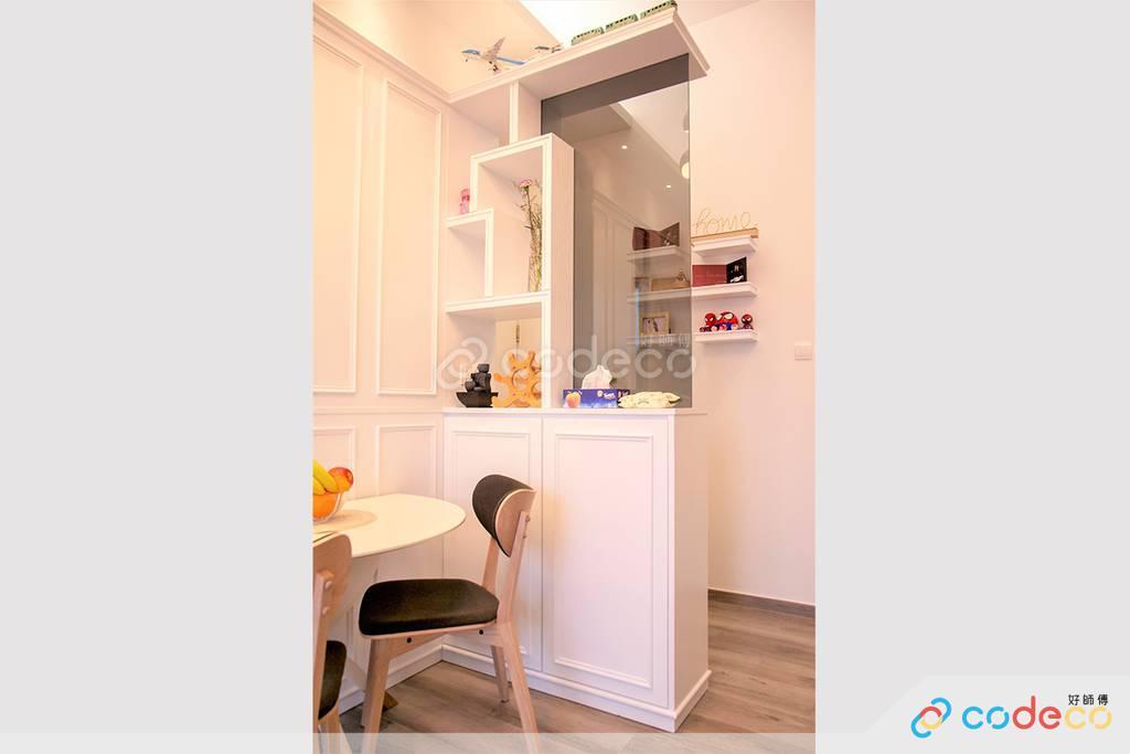 深水埗One New York飯廳餐邊櫃裝修北歐風室內設計